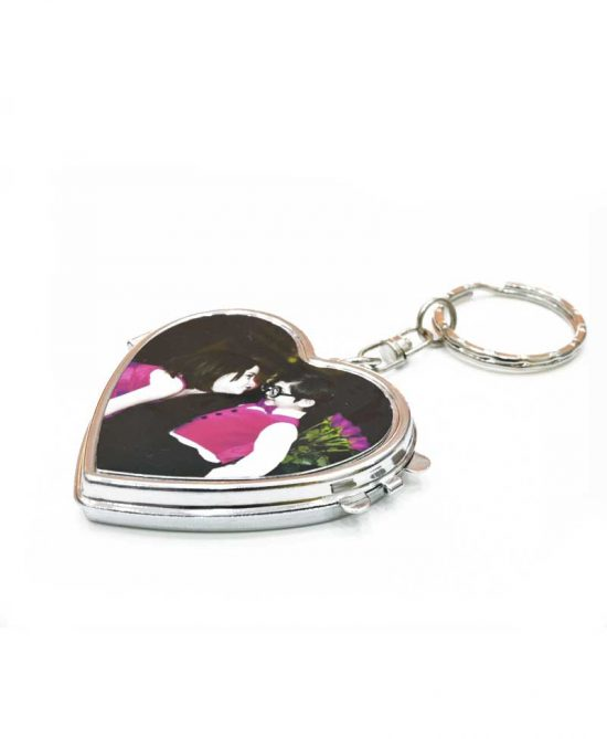 Custom Key Chain-Heart Shape Inside Mirror