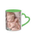11oz Mugs | Customize your own color mugs | heart handle mugs