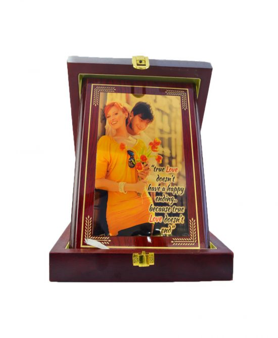 Personalized Wooden Memo Frame Box