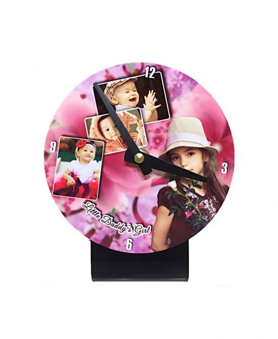 small office table clock photo frame