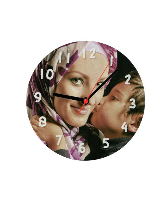 Metal clock photo frames